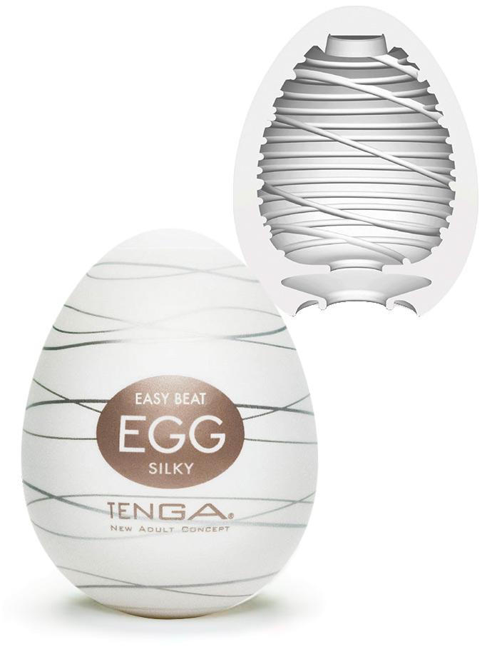 Мастурбатор-яйцо TENGA EGG SILKY II,  силикон, 7х5,3 см