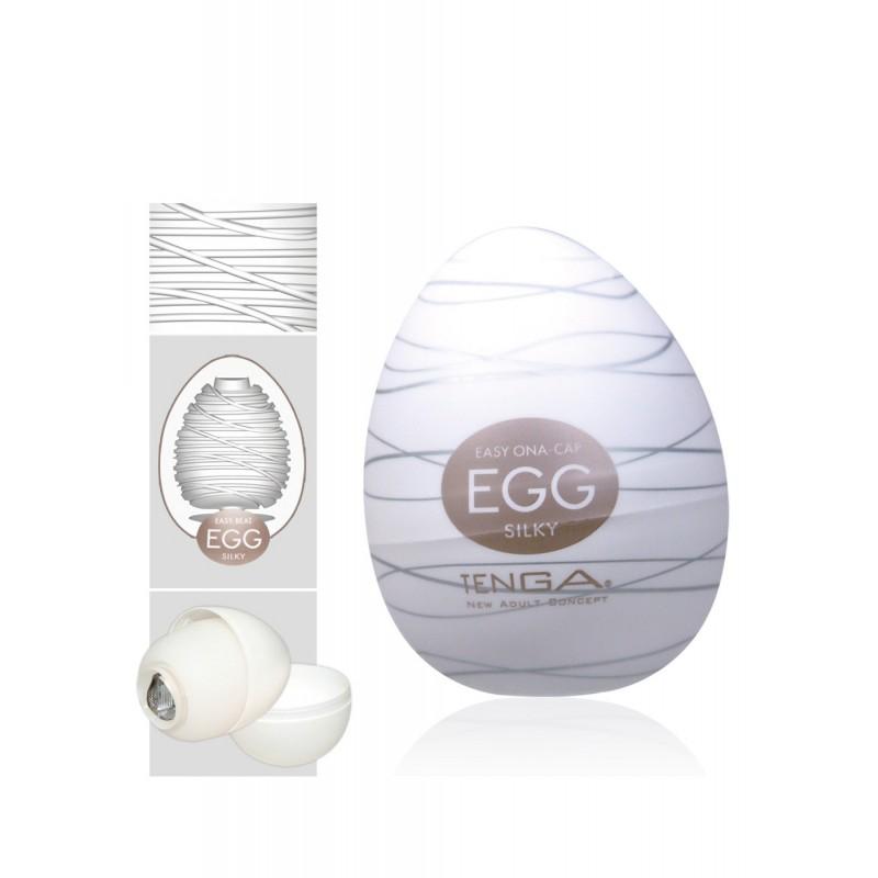 АКЦИЯ 30%! Мастурбатор-яйцо TENGA EGG SILKY II,  силикон, 7х5,3 см