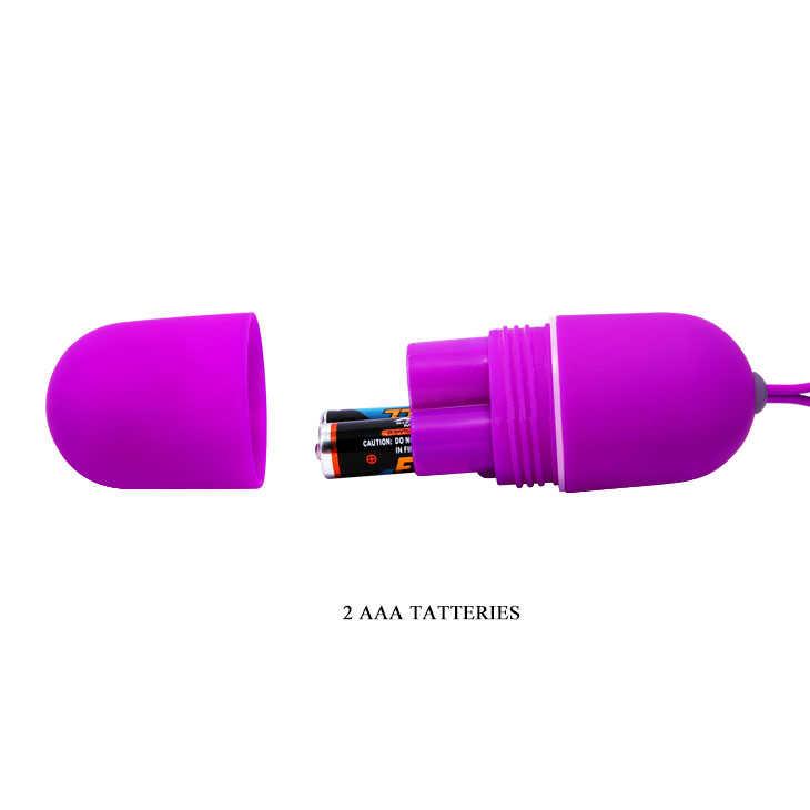 Виброяйцо ARVIN, с дистанционным пультом,  12 режимов,  фиолетовое, 7,9х3,2 см