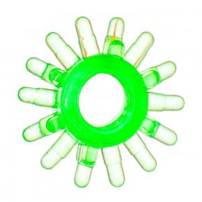 Кольцо эрекционное гелевое зеленое/прозрачное, 1,5-1,8 см