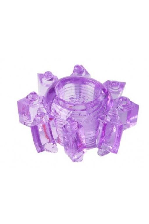 Прозрачно-фиолетовое гелевое эрекционное кольцо, 1,5-3,5 см