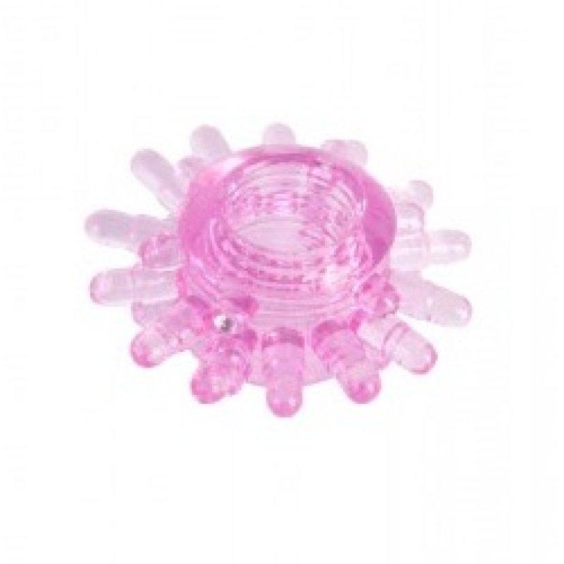 Кольцо эрекционное гелевое розовое/прозрачное, 1,5-1,8 см