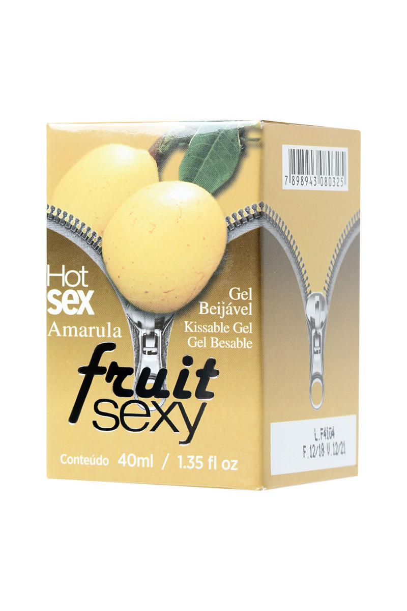 Массажное масло для поцелуев INTT FRUIT SEXY Amarula с разогревающим эффектом и ароматом ликера АМАРУЛА, 40 мл