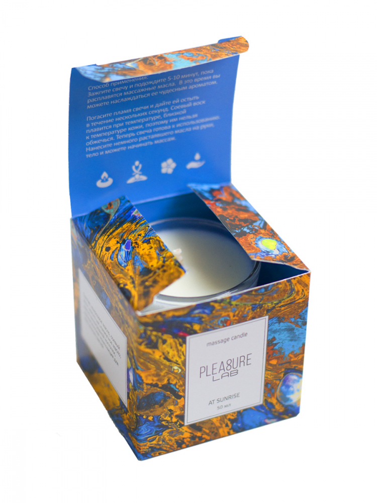 Массажная Свеча PLEASURE LAB AT SUNRISE, аромат ТАБАКА  и КАКАО , 115 гр
