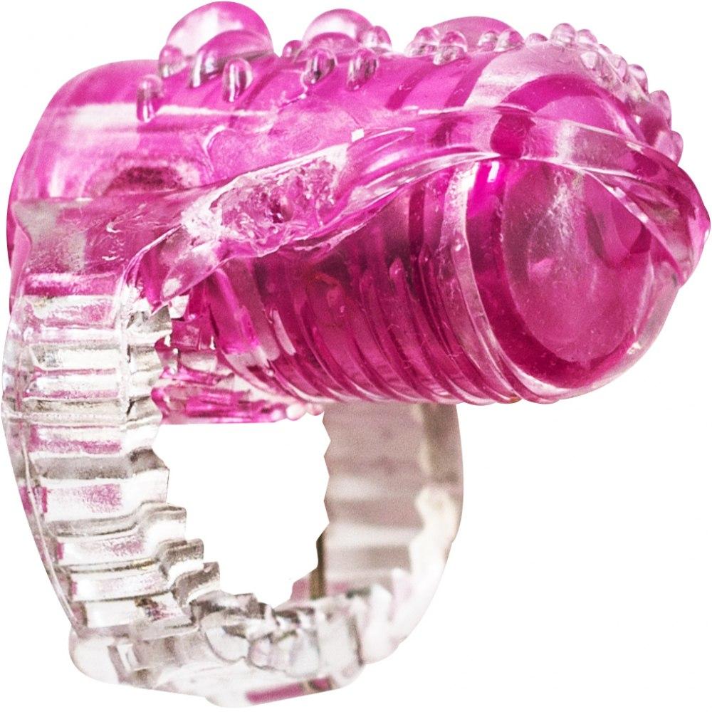 Насадка на язык RINGS TEASER TRANSPARENT розовая, ТПР, 3,5х1,5 см
