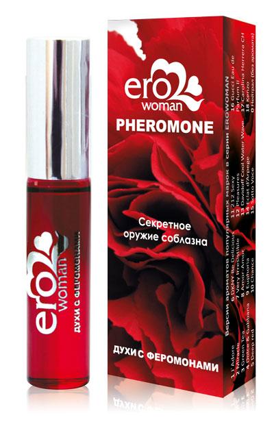 Духи с феромонами для женщин Erowoman №3 GREEN TEA,  10 мл