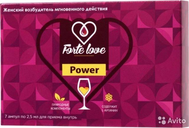 Возбуждающие капли для женщин FORTE LOVE POWER, 1 ампула, 2,5 мл