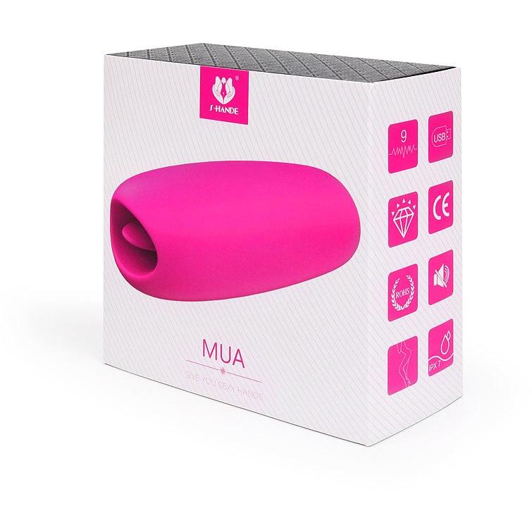 Перезаряжаемая вибропуля MIA со стимулятором клитора в виде язычка, 7 режимов, силикон,  розовый 8,5х3,4 см