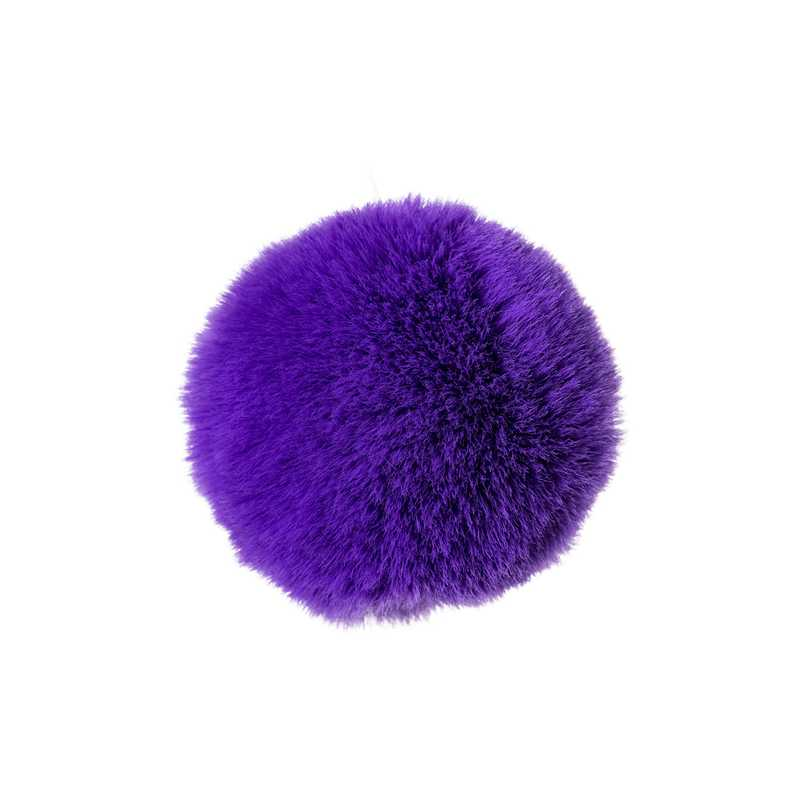 Анальная втулка с хвостиком ToDo  SWEET BUNNY, силикон, фиолетовая, 13 см