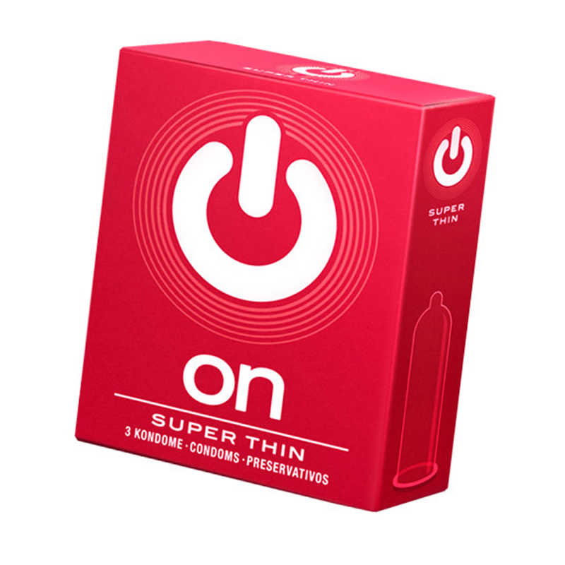 Презервативы  'ON)' SUPER THIN №3  СУПЕР ТОНКИЕ, 3 шт.