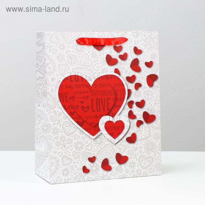 Пакет подарочный ламинат, 26х32х12 см
