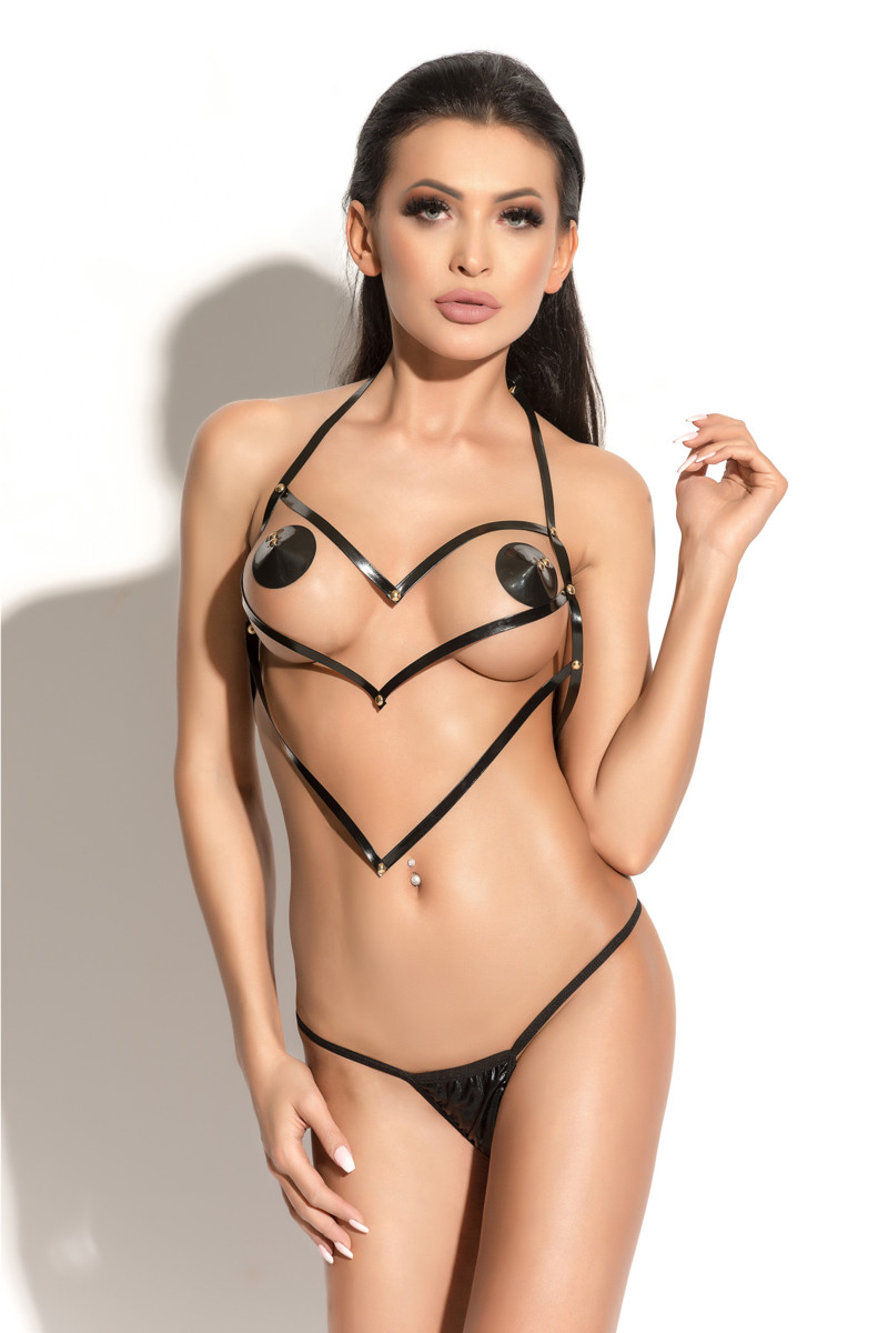 АКЦИЯ 30%! Портупея ME SEDUCE QUEEN OF HEARTS PURE, черная, разм. S/M