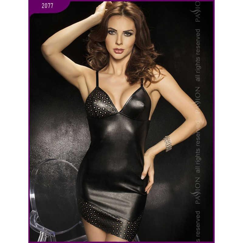 АКЦИЯ 25%! Платье ROCA Black, черное, экокожа, разм. L/XL