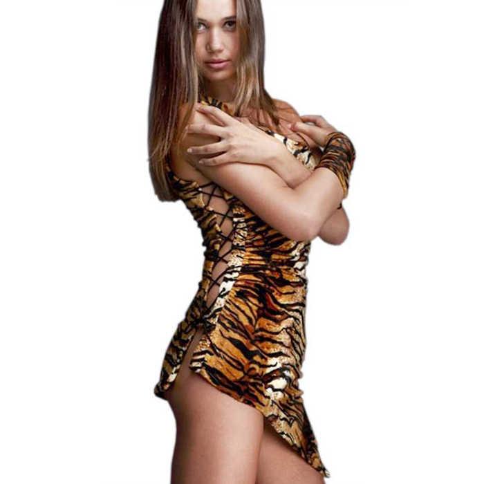 Платье АМАЗОНКА,  с манжетом-перчаткой на руку, велюр, расцветка - тигровая, разм. 46-48