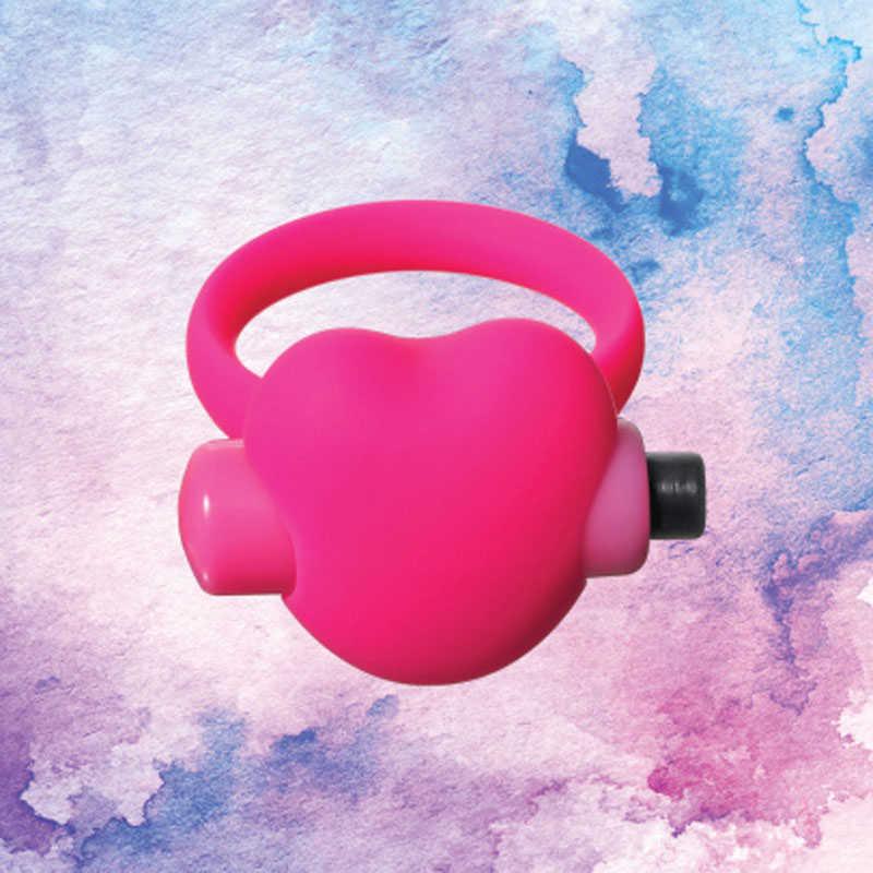 Эрекционное виброколечко-сердечко  EMOTIONS HEARTBEAT PINK, силикон, розовое, 5,7х4 см