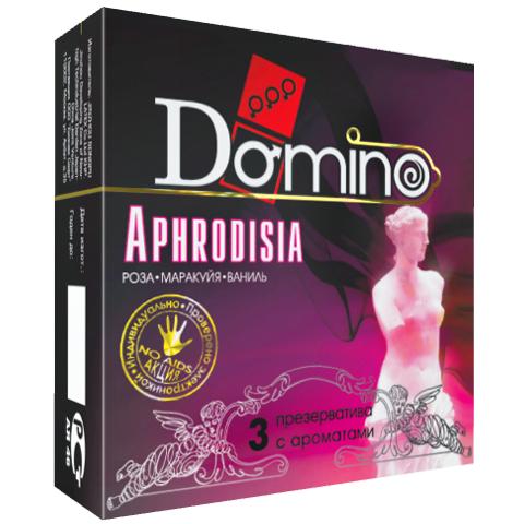 Презервативы  DOMINO APHRODISIA  роза маракуйя ваниль, 3 шт.