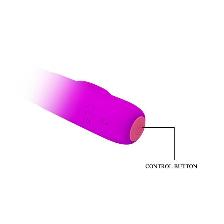 АКЦИЯ 20%! Перезаряжаемый ввибратор LEOPOLD, возвратно-поступательный, 4 режима вибрации, 4 режима фрикций,  силикон, фиолетовый,   15,5х2,9 см