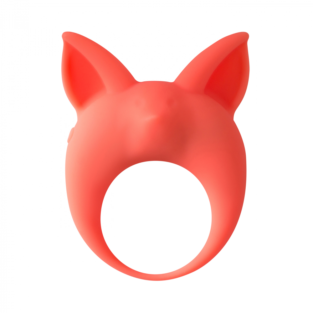 Эрекционное Кольцо MIMI ANIMALS KITTEN KYLE ORANGE (КОТИК) силикон, оранжевое, 7,3х5,7 см