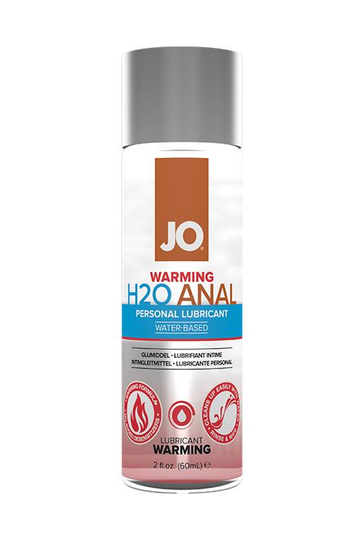 Анальный возбуждающий лубрикант на водной основе JO Anal H2O WARMING, 60 мл)