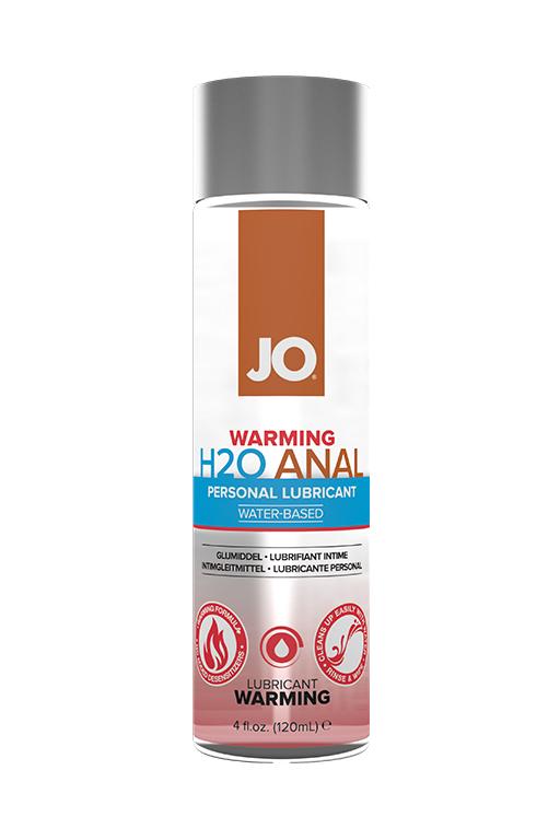Анальный возбуждающий любрикант на водной основе JO Anal H2O Warming,120 мл