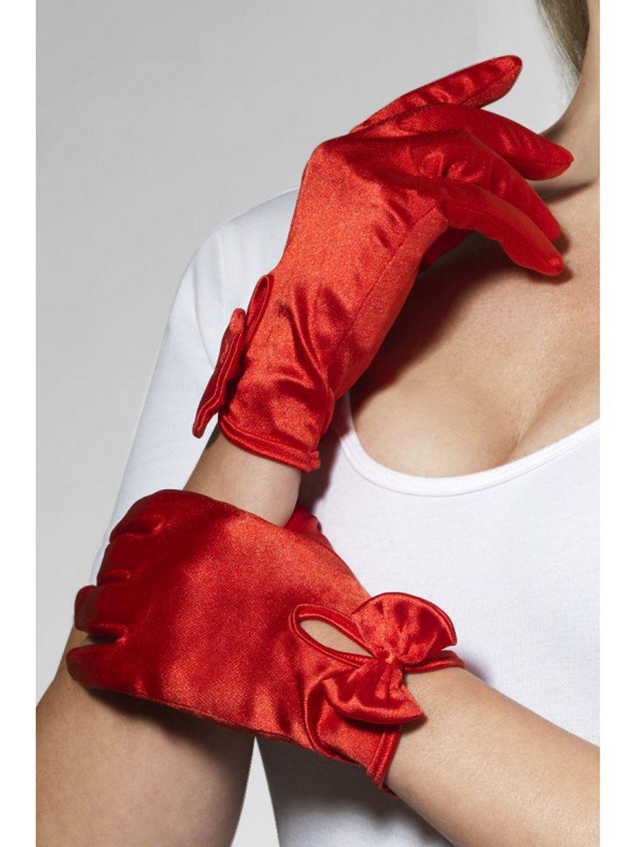Перчатки ЛЕДИ от Fever, атласные, красные, размер OS, One Size