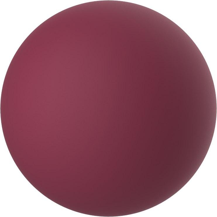 Набор вагинальных шариков LOVE STORY DIVA WINE RED со смещенным центром тяжести, силикон, цвет - бордо, 2,2-3 см