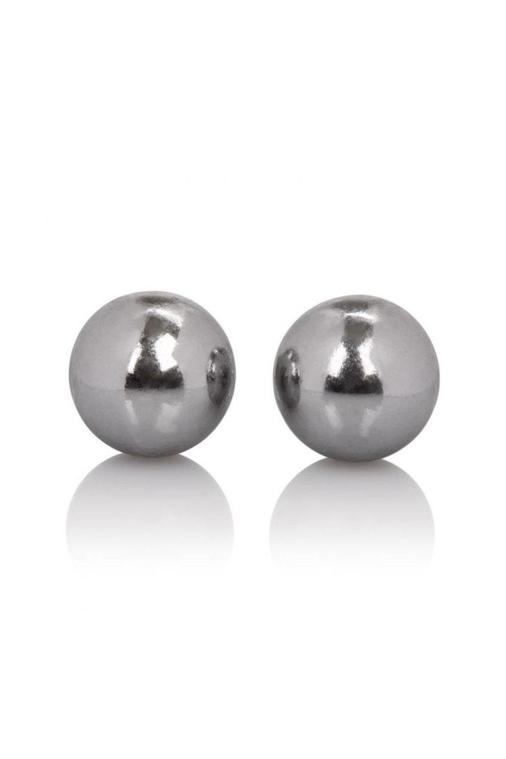 Вагинальные шарики утяжеленные маленькие.  без сцепки, в ларчике, цвет серебро, металл, 2 см, 2 х 25 гр