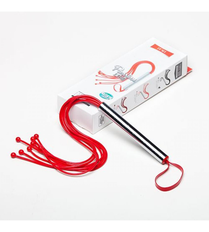 Плеть SITABELLA  латексная с шариками красная, 54 см