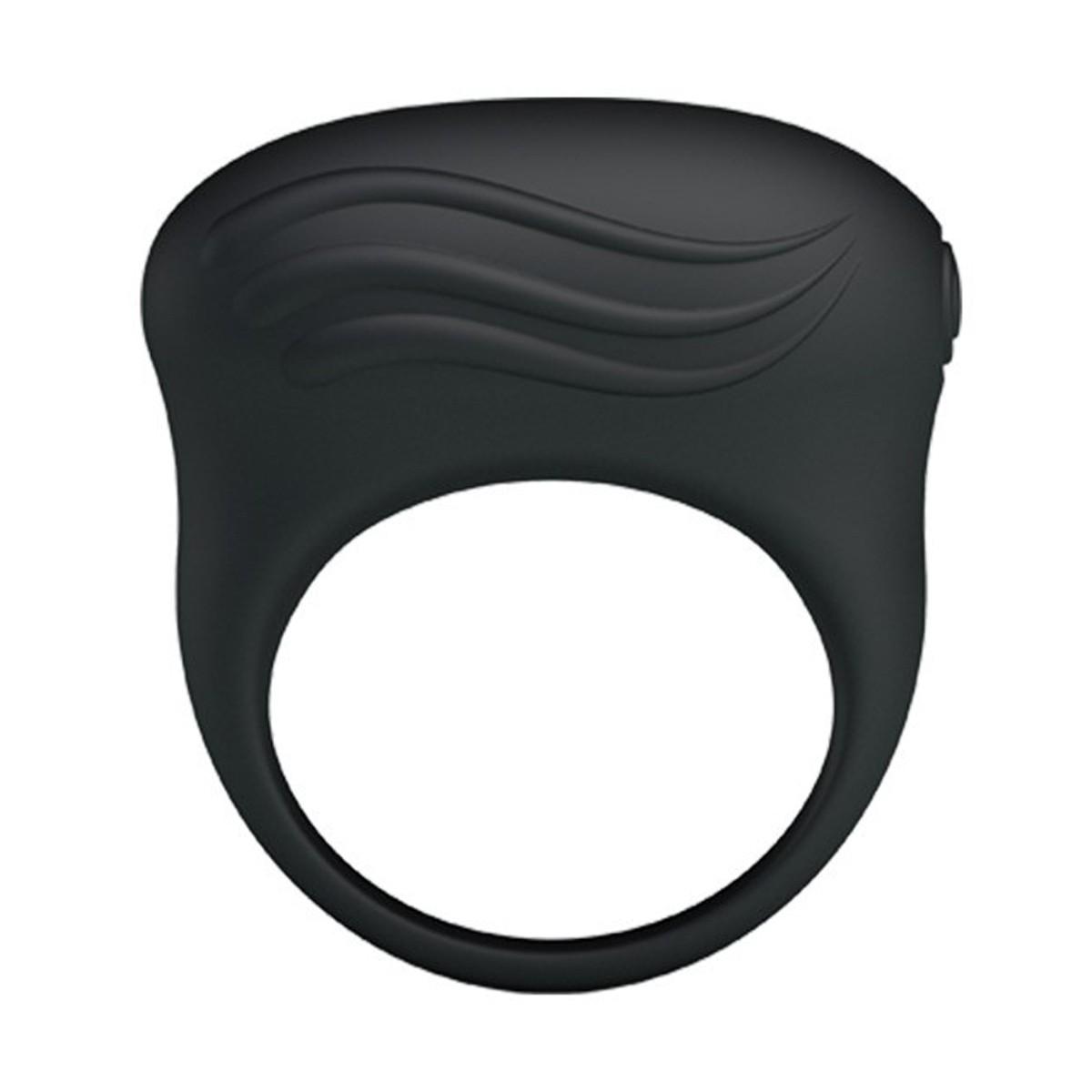 Эрекционное виброкольцо  BERTRAM  с вибропулей, силикон, черное