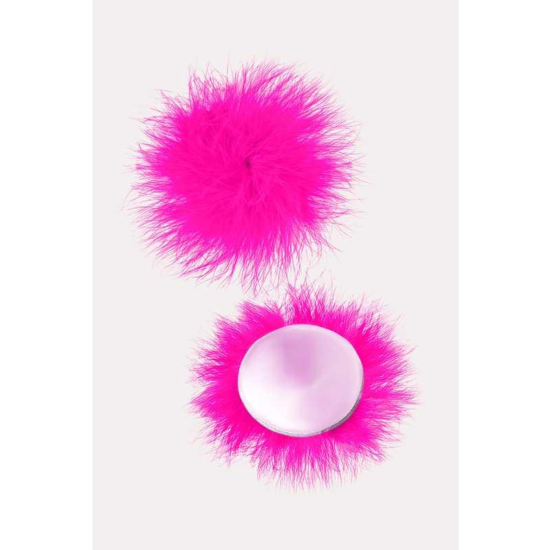 АКЦИЯ 30%! Пэстисы EROLANTA LINGERIE COLLECTION круглые, с пухом, розовые