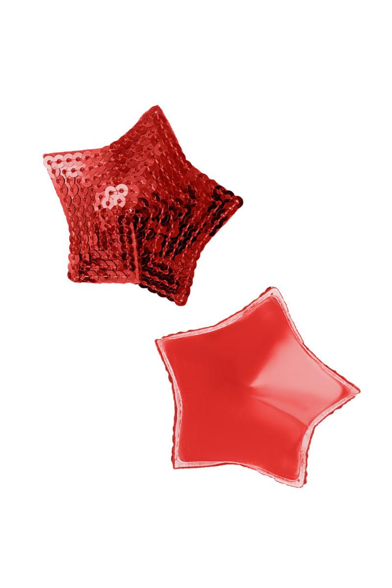 АКЦИЯ 30%! Пэстис  EROLANTA LINGERIE COLLECTION в форме звезд, с пайетками,  красные