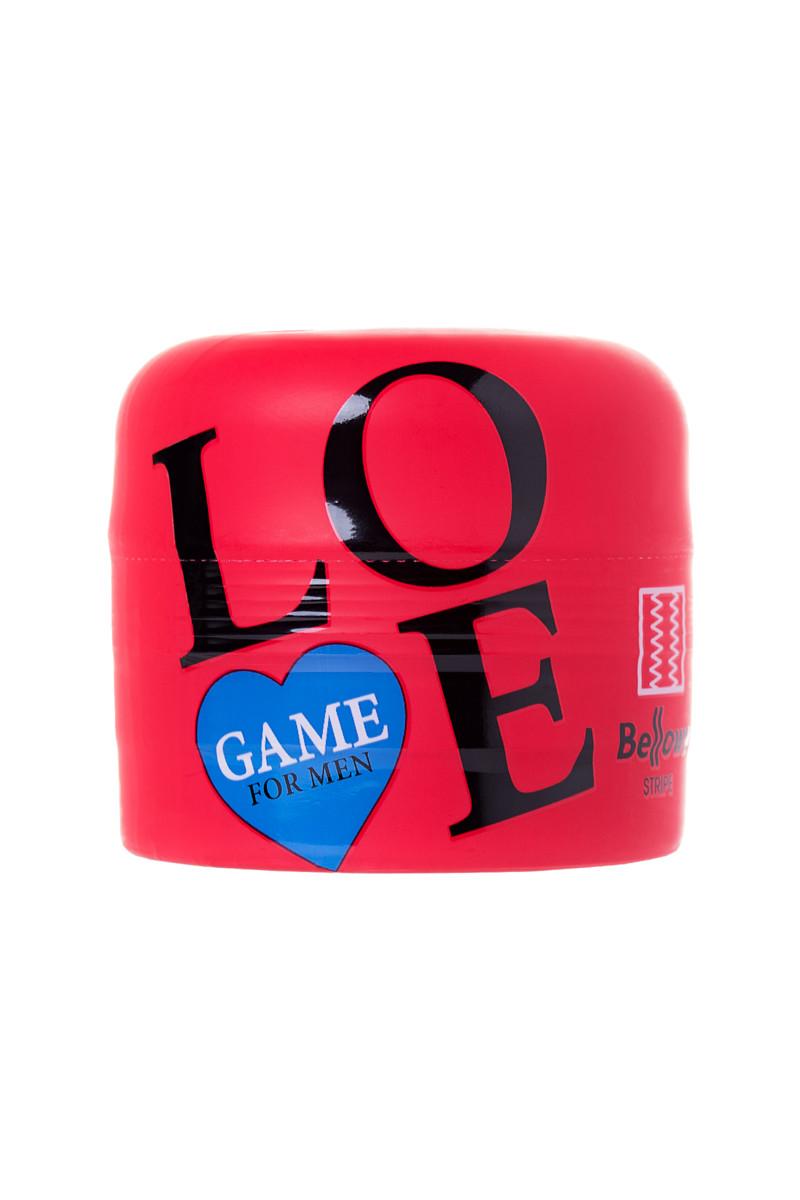 Мастурбатор LOVEGAME HIGH PRESSURE STRIPS, ТПЕ, красный, 15 см