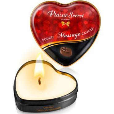 Массажная свеча  РLAISIRS SECRETS HEART CHOCOLATE, с ароматом ШОКОЛАДА, 35 мл.
