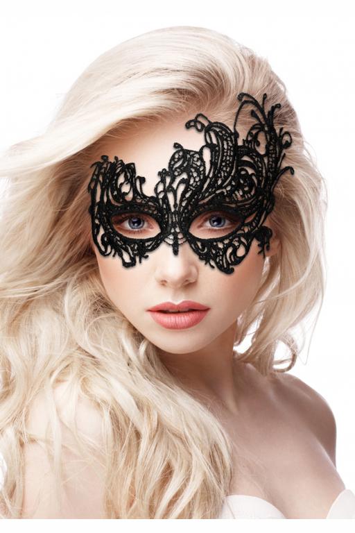 Кружевная маска ручной работы на глаза ROYAL BLACK LACE MASK