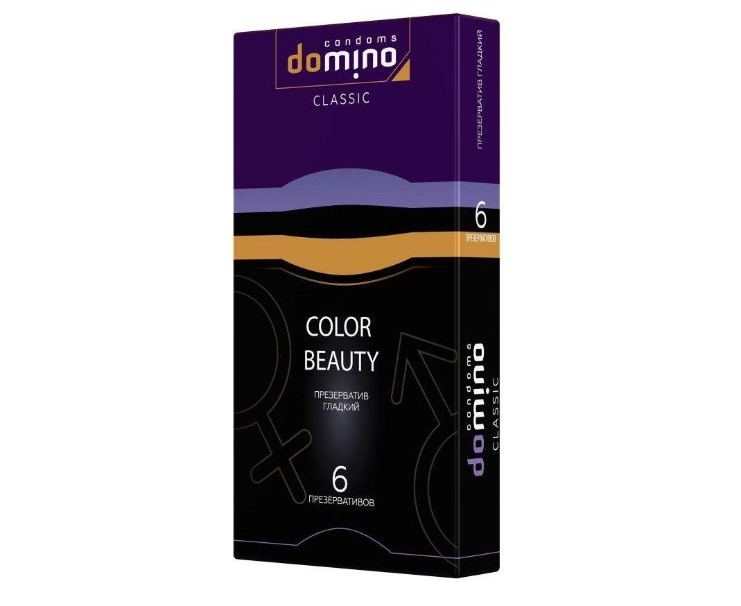 Разноцветные презервативы DOMINO COLOR BEAUTY,  золотые, черные, фиолетовые,  6 шт