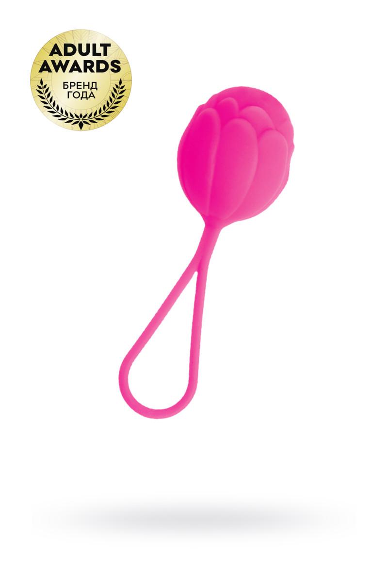 Вагинальный шарик TOYFA A-TOYS  со смещённым центром тяжести, силикон, розовый, 3,5 см