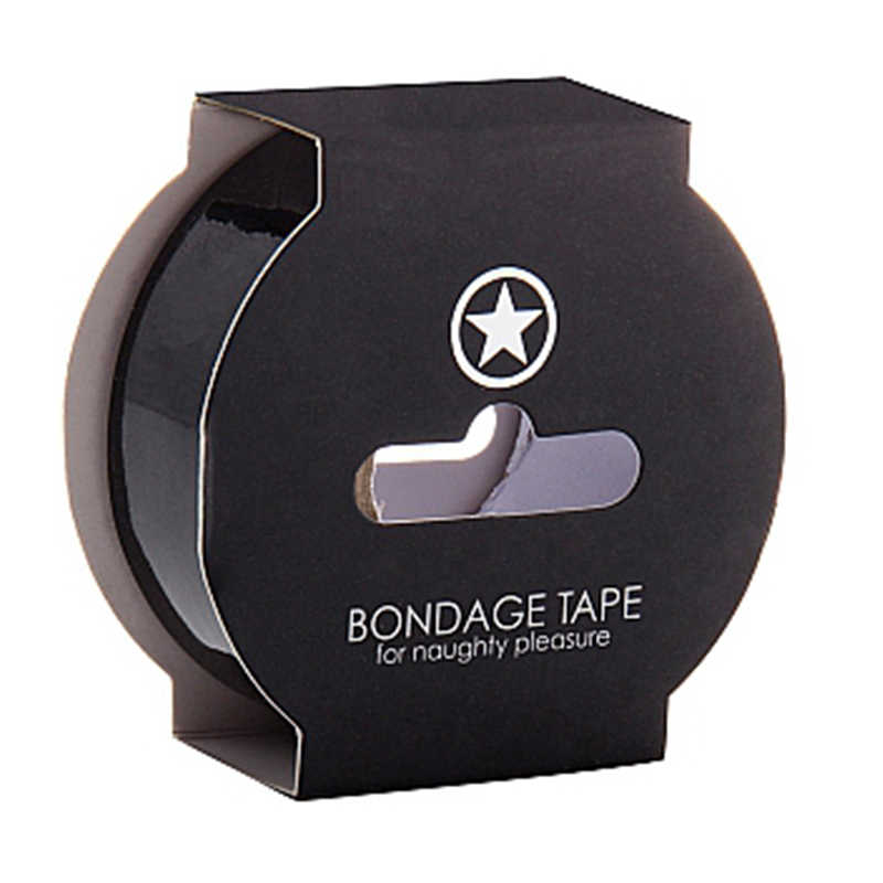 Лента для связывания NON STICKY BONDAGE TAPE BLACK черная,17,5 м