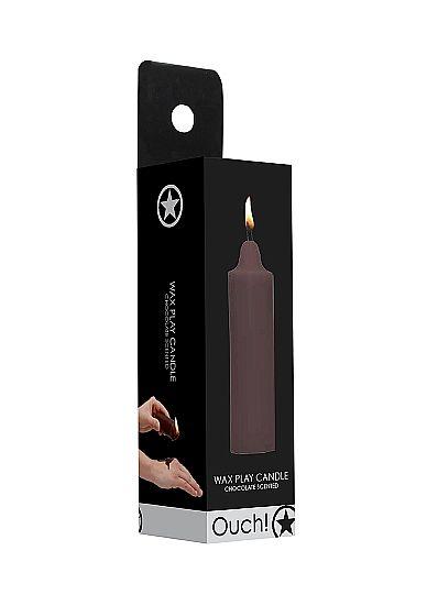 Низкотемпературная восковая BDSM-свеча Wax Play с ароматом ШОКОЛАДА, 100 гр