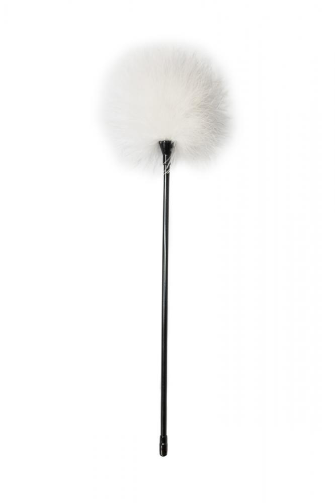 Тиклер PARTY HARD TREASURE WHITE с белыми пушистыми перышками, пластик/перо, 41 см