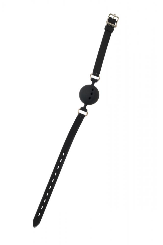 Кляп-шар PARTY HARD CHARMER с отверстиями, силикон, черный, 4,5 см