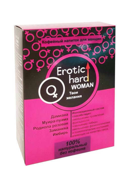 Кофейный напиток EROTIC HARD WOMAN для повышения либидо и качества секса, 100 мл