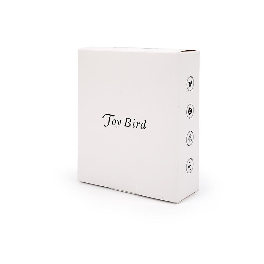 Фантазийный  перезаряжаемый вибратор TOY BIRD с двигающимся язычком, пульт ДУ, 10 режимов вибрации, силикон, розовый, 24 х4 см