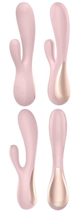 Смарт-вибратор SATISFYER MONO FLEX с приложением, 10 режимов, 5 интенсивностей, силикон, розовый, 20,4х4,4 см
