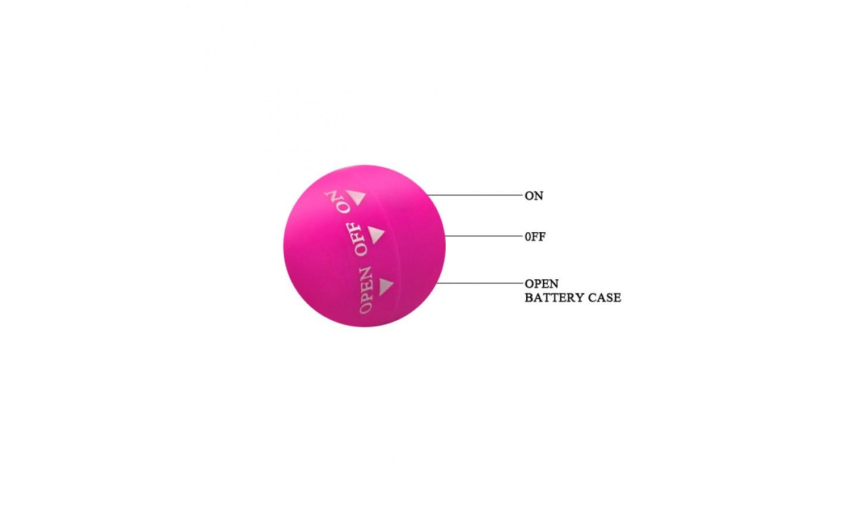 Вибропуля MAGIC  водонепронцаемая, АВС-пластик с силиконовым покрытием, розовая, 7,5 см