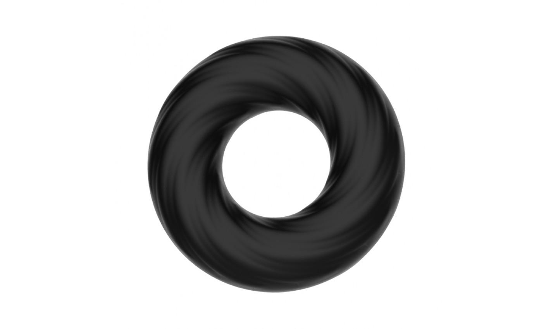 Эластичное эрекционное кольцо CRAZY BULL SUPER SOFT,  силикон,  , черное,  5 см
