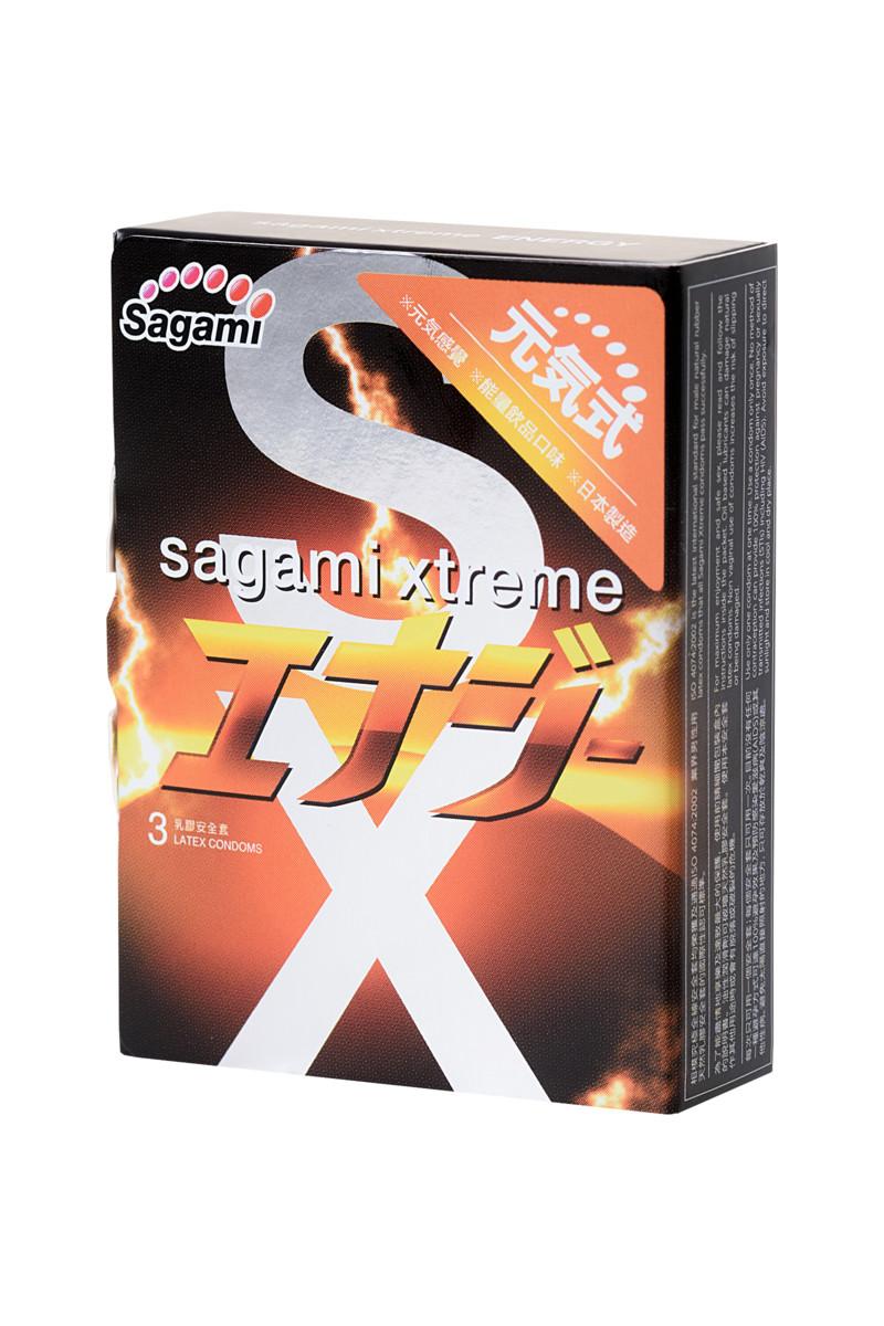 Ультратонкие ароматизированные презервативы SAGAMI XTREME ENERGY,  3 шт.