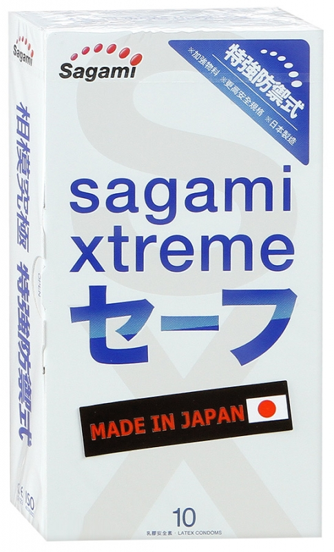 Утолщенные  презервативы  SAGAMI XTREME ULTRASAFE,10 шт.