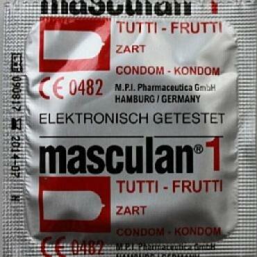 Презервативы ароматизированные MASCULAN 1 ULTRA ТУТТИ-ФРУТТИ), с фруктовым запахом, 3 шт.