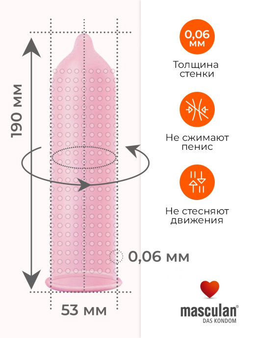 Презервативы с анестетиком MASCULAN 3 ULTRA (ПРОДЛЕВАЮЩИЙ ЭФФЕКТ) 3 штуки