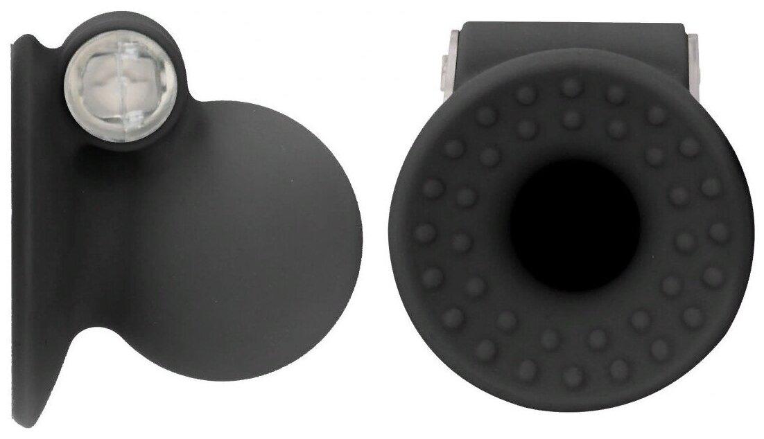 Насадки-присоски на соски с вибрацией VIBRATUNG NIPPLE SUCKER Ouch!, силикон, черные